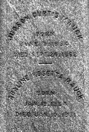 MAUCK, ADALINE - CLOSE UP VIEW - Gallia County, Ohio | ADALINE - CLOSE UP VIEW MAUCK - Ohio Gravestone Photos