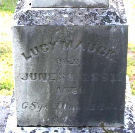 MAUCK, LUCY (CLOSE-UP) - Gallia County, Ohio   LUCY (CLOSE-UP) MAUCK - Ohio Gravestone Photos