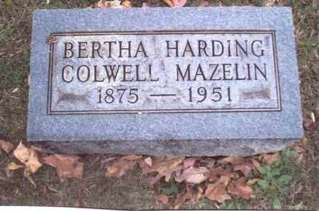 HARDING MAZELIN, BERTHA - Gallia County, Ohio | BERTHA HARDING MAZELIN - Ohio Gravestone Photos