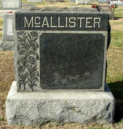 MCALLISTER, FAMILY MONUMENT - Gallia County, Ohio | FAMILY MONUMENT MCALLISTER - Ohio Gravestone Photos
