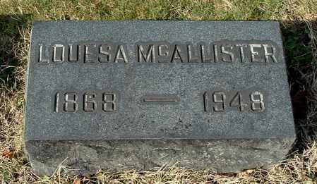 MCALLISTER, LOUESA - Gallia County, Ohio | LOUESA MCALLISTER - Ohio Gravestone Photos