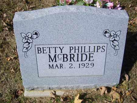 MCBRIDE, BETTY - Gallia County, Ohio   BETTY MCBRIDE - Ohio Gravestone Photos