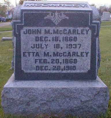 MCCARLEY, ETTA - Gallia County, Ohio | ETTA MCCARLEY - Ohio Gravestone Photos