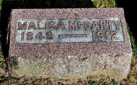 MCCARTY, MALISA - Gallia County, Ohio | MALISA MCCARTY - Ohio Gravestone Photos