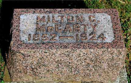 MCCARTY, MILTON C - Gallia County, Ohio | MILTON C MCCARTY - Ohio Gravestone Photos