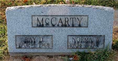 MCCARTY, RAY D. - Gallia County, Ohio | RAY D. MCCARTY - Ohio Gravestone Photos
