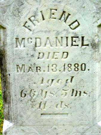 MCDANIEL, FRIEND - Gallia County, Ohio   FRIEND MCDANIEL - Ohio Gravestone Photos