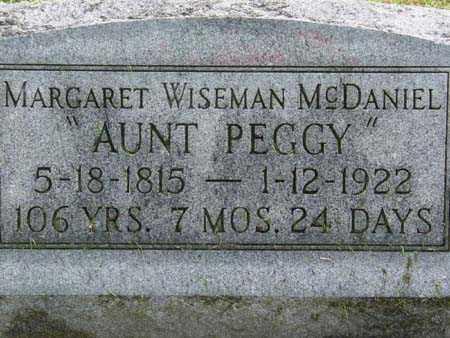 WISEMAN MCDANIEL, MARGARET - Gallia County, Ohio | MARGARET WISEMAN MCDANIEL - Ohio Gravestone Photos