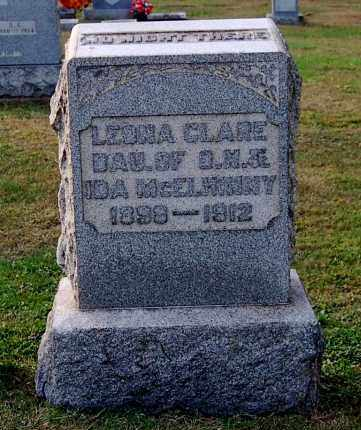 MCELHINNY, LEONA CLARE - Gallia County, Ohio   LEONA CLARE MCELHINNY - Ohio Gravestone Photos
