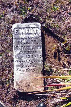 MCFARLAND, EMILY - Gallia County, Ohio   EMILY MCFARLAND - Ohio Gravestone Photos