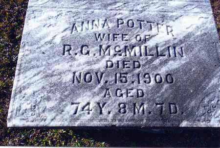 POTTER MCMILLIN, ANNA - Gallia County, Ohio | ANNA POTTER MCMILLIN - Ohio Gravestone Photos