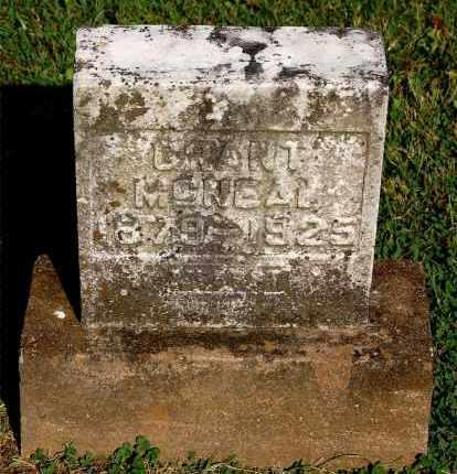 MCNEAL, GRANT - Gallia County, Ohio | GRANT MCNEAL - Ohio Gravestone Photos