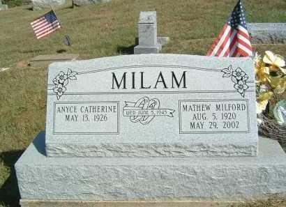 MILAM, MATTHEW MILFORD - Gallia County, Ohio | MATTHEW MILFORD MILAM - Ohio Gravestone Photos