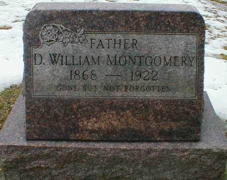 MONTGOMERY, D. WILLIAM - Gallia County, Ohio   D. WILLIAM MONTGOMERY - Ohio Gravestone Photos