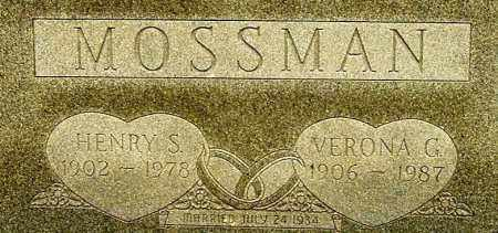 MOSSMAN, HENRY SCOTT (CLOSE-UP) - Gallia County, Ohio | HENRY SCOTT (CLOSE-UP) MOSSMAN - Ohio Gravestone Photos