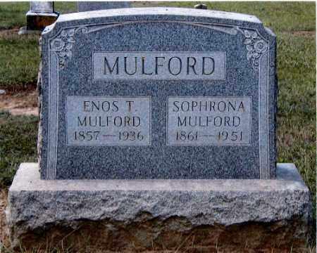 MULFORD, ENOS T. - Gallia County, Ohio | ENOS T. MULFORD - Ohio Gravestone Photos