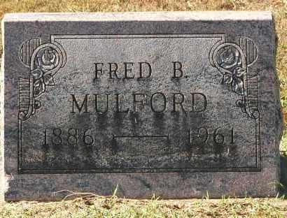 MULFORD, FRED B. - Gallia County, Ohio   FRED B. MULFORD - Ohio Gravestone Photos