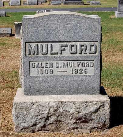 MULFORD, GALEN DAMON - Gallia County, Ohio | GALEN DAMON MULFORD - Ohio Gravestone Photos