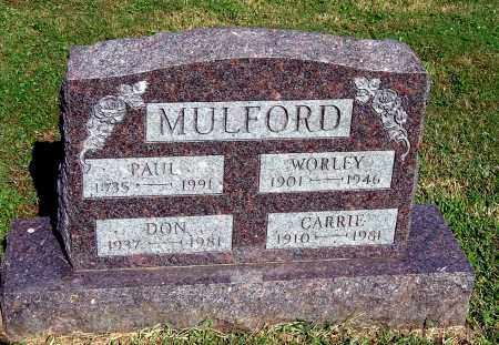 MULFORD, CARRIE - Gallia County, Ohio | CARRIE MULFORD - Ohio Gravestone Photos