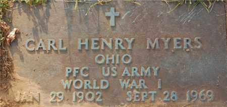 MYERS, CARL HENRY - Gallia County, Ohio | CARL HENRY MYERS - Ohio Gravestone Photos