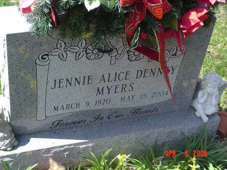 DENNEY MYERS, JENNIE - Gallia County, Ohio | JENNIE DENNEY MYERS - Ohio Gravestone Photos