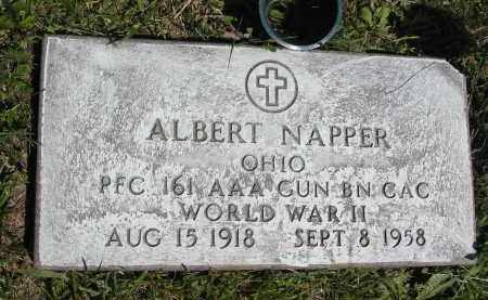 NAPPER, ALBERT - Gallia County, Ohio | ALBERT NAPPER - Ohio Gravestone Photos