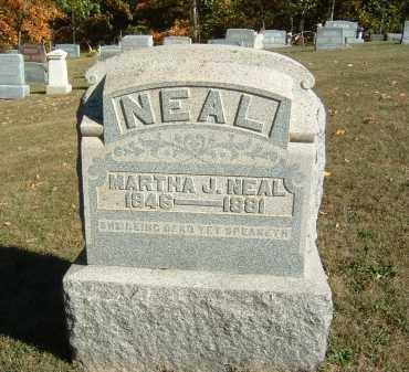 NEAL, MARTHA J. - Gallia County, Ohio | MARTHA J. NEAL - Ohio Gravestone Photos