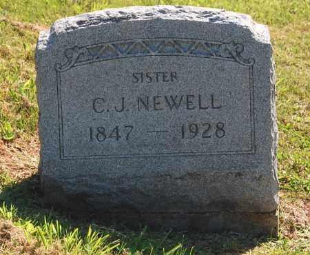 NEWELL, C.[CALISTA] J. - Gallia County, Ohio | C.[CALISTA] J. NEWELL - Ohio Gravestone Photos