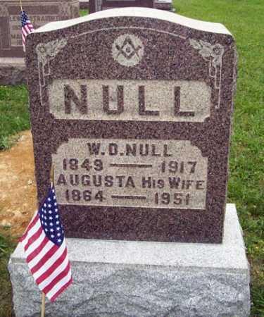 LEAR NULL, AUGUSTA - Gallia County, Ohio   AUGUSTA LEAR NULL - Ohio Gravestone Photos