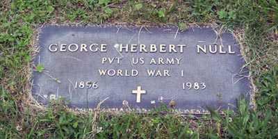 NULL, GEORGE HERBERT - Gallia County, Ohio | GEORGE HERBERT NULL - Ohio Gravestone Photos