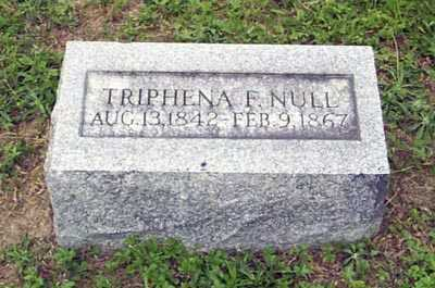 NULL, TRIPHENA F. - Gallia County, Ohio   TRIPHENA F. NULL - Ohio Gravestone Photos