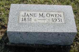 OWEN, JANE M. - Gallia County, Ohio | JANE M. OWEN - Ohio Gravestone Photos