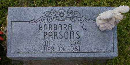 PARSONS, BARBARA - Gallia County, Ohio | BARBARA PARSONS - Ohio Gravestone Photos