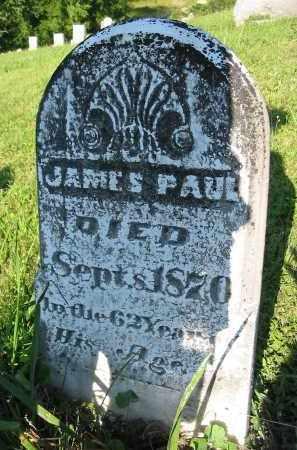 PAUL, JAMES - Gallia County, Ohio   JAMES PAUL - Ohio Gravestone Photos
