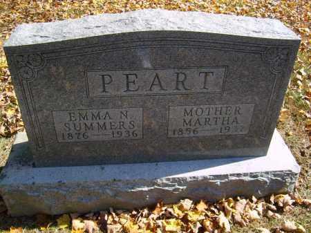 PEART, MARTHA - Gallia County, Ohio | MARTHA PEART - Ohio Gravestone Photos