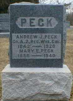 PECK, ANDREW - Gallia County, Ohio | ANDREW PECK - Ohio Gravestone Photos