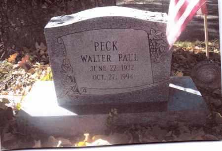 PECK, WALTER PAUL - Gallia County, Ohio   WALTER PAUL PECK - Ohio Gravestone Photos