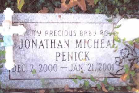PENICK, JONATHAN MICHEAL - Gallia County, Ohio | JONATHAN MICHEAL PENICK - Ohio Gravestone Photos