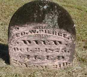 PIERCE, ED. - Gallia County, Ohio | ED. PIERCE - Ohio Gravestone Photos