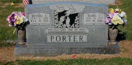 PORTER, RUSSELL L - Gallia County, Ohio | RUSSELL L PORTER - Ohio Gravestone Photos