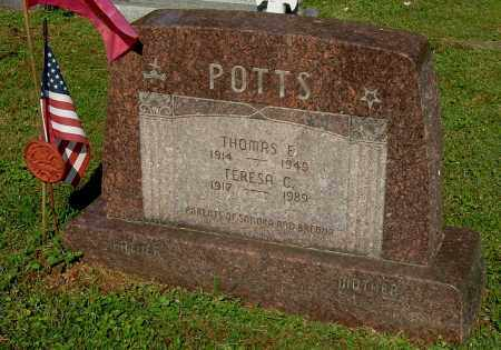 POTTS, TERESA C - Gallia County, Ohio | TERESA C POTTS - Ohio Gravestone Photos