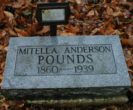 POUNDS, MITELLA - Gallia County, Ohio   MITELLA POUNDS - Ohio Gravestone Photos