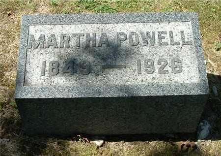 POWELL, MARTHA - Gallia County, Ohio | MARTHA POWELL - Ohio Gravestone Photos