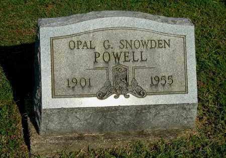 SNOWDEN POWELL, OPAL G - Gallia County, Ohio | OPAL G SNOWDEN POWELL - Ohio Gravestone Photos