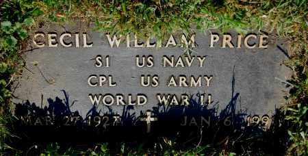 PRICE, CECIL WILLIAM - Gallia County, Ohio | CECIL WILLIAM PRICE - Ohio Gravestone Photos