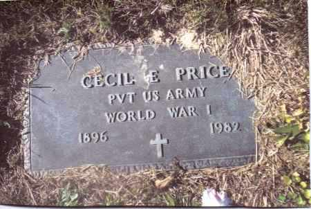 PRICE, CECIL E. - Gallia County, Ohio | CECIL E. PRICE - Ohio Gravestone Photos