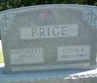 WRIGHT PRICE, MARGARET E - Gallia County, Ohio | MARGARET E WRIGHT PRICE - Ohio Gravestone Photos