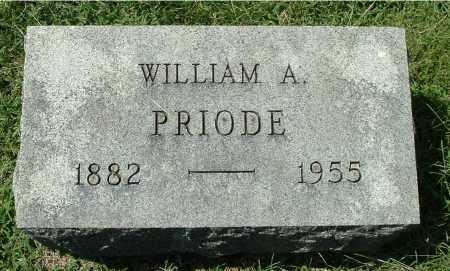 PRIODE, WILLIAM A - Gallia County, Ohio   WILLIAM A PRIODE - Ohio Gravestone Photos