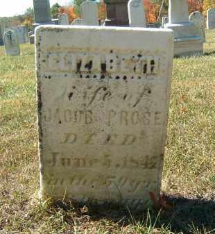 PROSE, ELIZABETH - Gallia County, Ohio   ELIZABETH PROSE - Ohio Gravestone Photos