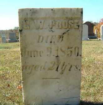 PROSE, G. W. - Gallia County, Ohio   G. W. PROSE - Ohio Gravestone Photos